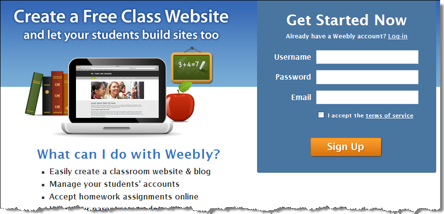 marymac / Session 19: Webpages with Weebly